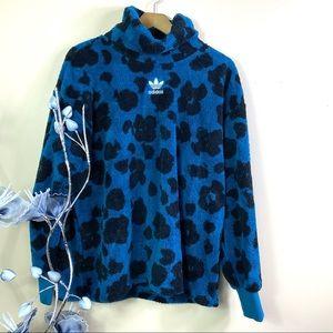 Adidas Original Bellista Sherpa Leopard Pullover